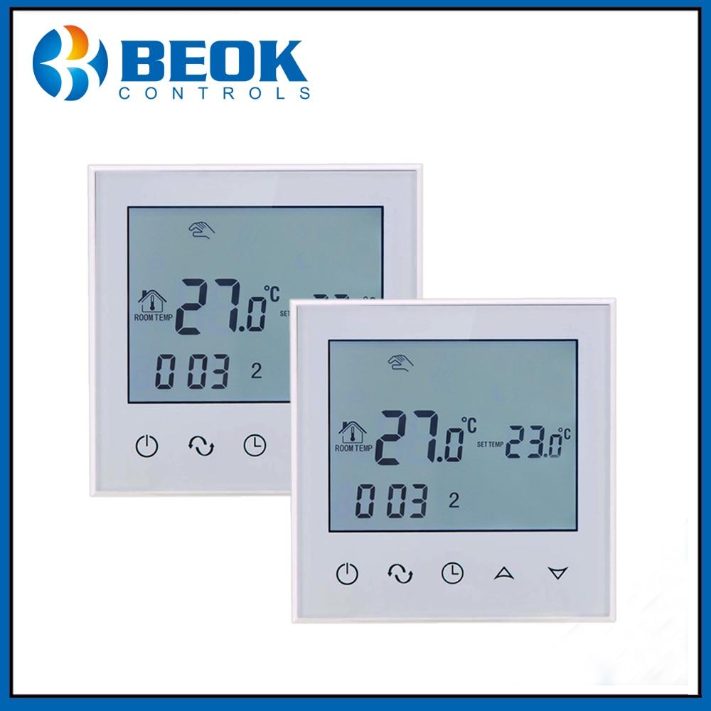 2 قطعة TDS21-WP الرقمية متحكم في درجة الحرارة أسبوعي برمجة ل 3A المياه أرضيات تدفئة ترموستات AC200-230V