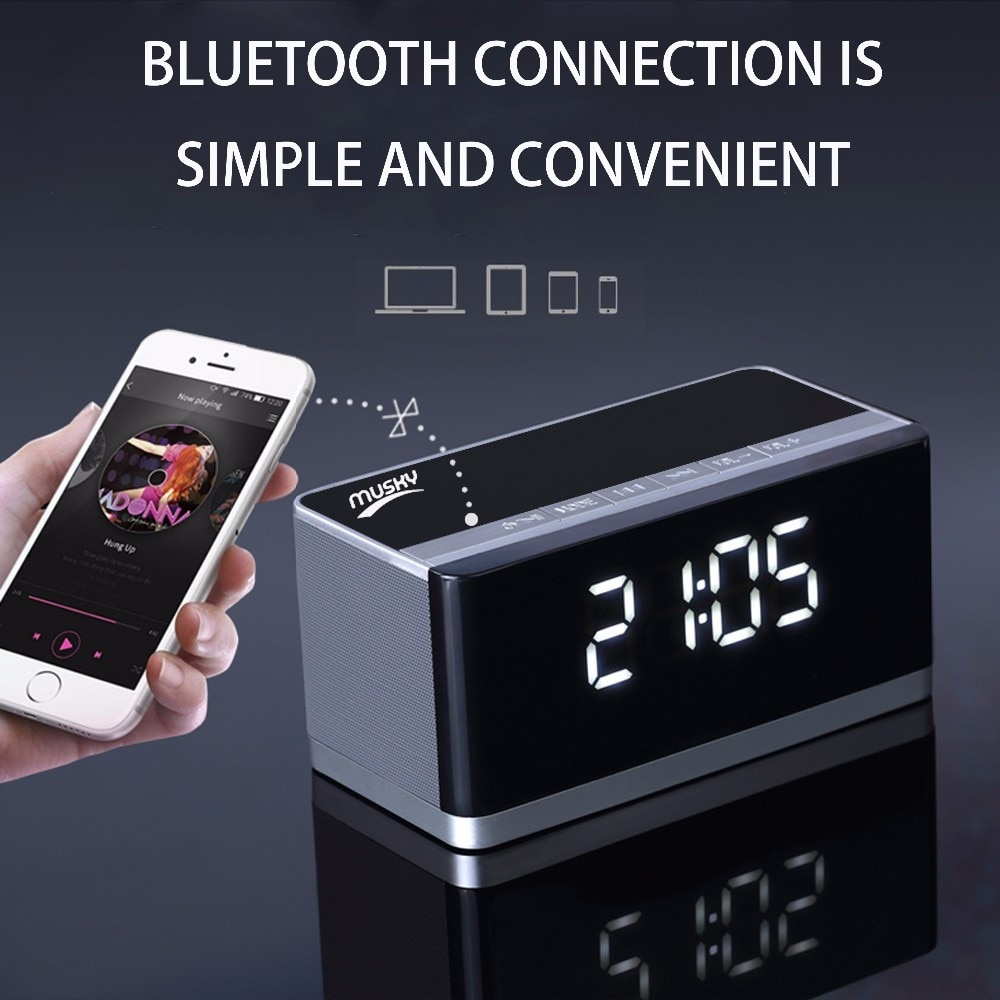 New Original MUSKY DY27 HIFI Wireless Bluetooth Speaker With Radio AUX Hands-free Function Subwoofer Speakers Sound Box player