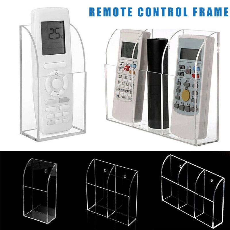 Soporte acrílico para Control remoto de aire acondicionado para TV, caja de almacenamiento con montaje en pared de 1-3 pulgadas, soporte de control remoto BDF