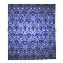 Beauty Haunted Mansion Wallpaper Stretching Room Blanket Soft Warm Coral Fleece Blanket Winter Sheet Bedspread Sofa Throw