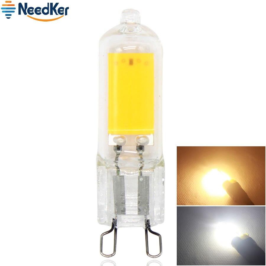 G9 Led Lamp COB 2W LED Clear Crystal Lamp 360 Degree Warm Cold White Led Bulb Light AC 220V 230V 240V Replace Halogen Lamp