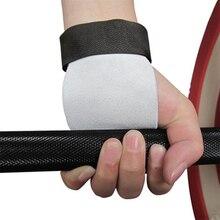 1 paire de gants Crossfit en cuir de vache Grip Palm protecteur tirer vers le haut des gants de musculation Barbell poignées de gymnastique taille S/M/L