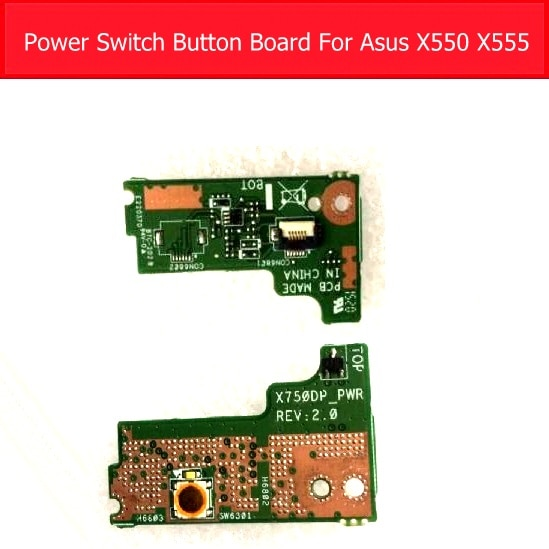 Подлинная вкл/выкл плата питания для Asus X550 K550D K555Z X550ZE X750DA VM590Z X550DP X555Z X550ZA PC кнопка няни Джек плата