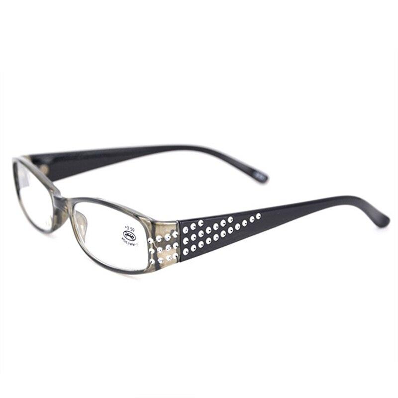 Oulylan clássico feminino óculos de leitura diamante resina hyperopia prescrição óculos senhoras strass eyewear leitores + 1.0 3.5