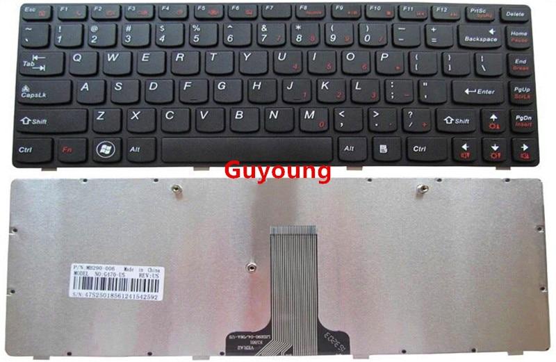 Laptop US English keyboard for LENOVO G470 V470 B470 B490 G475 B475E V480C B480 M490 B475 V480 M495  Black