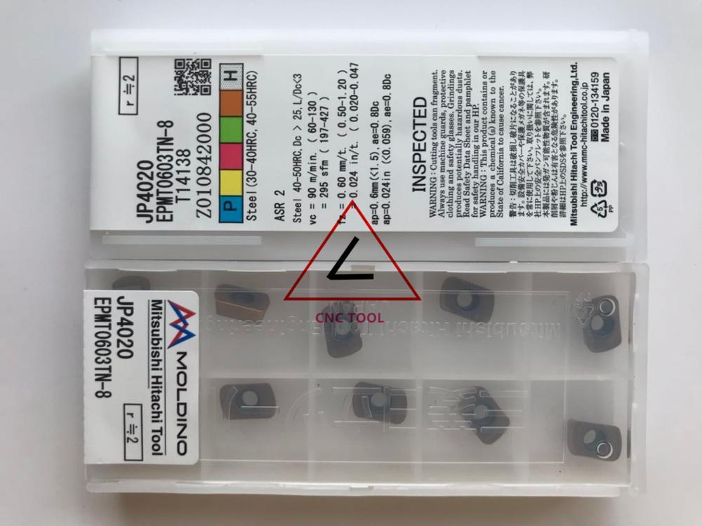 EPMT0603TN-8 JP4020 10pcs Hitachi high cutting performance CNC indexable inserts