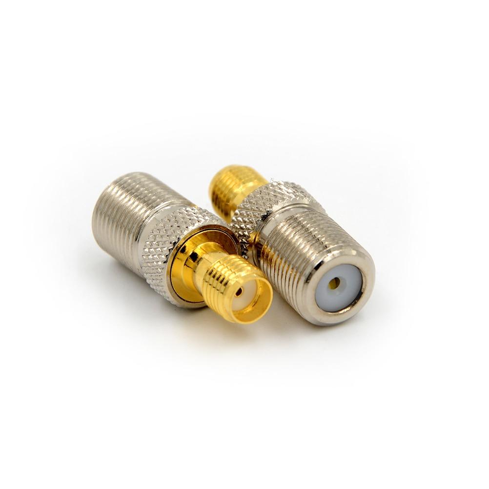 1pcs Female F Type Jack To SMA Female Plug Straight RF Coax Adapter F To SMA Convertor F Female to SMA Female Connector