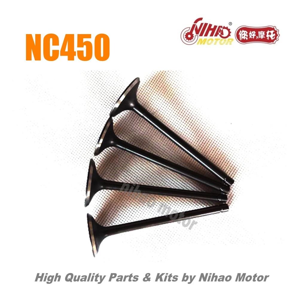 95 NC450 piezas de escape conjunto de válvulas Motor ZONGSHEN NC RX4 ZS194MQ (Nihao Motor) KAYO Motoland BSE VENTO Asiawing Xmoto