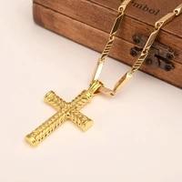 bangrui women cross gold silver black charms pendant necklace men fashion christian jewelry factory wholesalecrucifix god gift