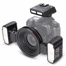 ماكرو 2 لايت فلاش SPEEDLITE ضوء ل canon 5d3 6d 7d 760d نيكون D4 d90 d500 d600 d750 d800 d850 d3300 d5500 d5100 d7100 كاميرا