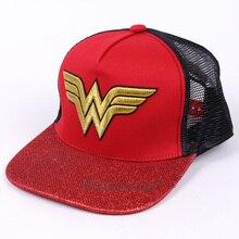 Casquette de Cosplay Wonder Woman pour hommes   Casquette B Boy Hip-Hop de marque pour femmes et hommes, casquette de Baseball, taille gratuite