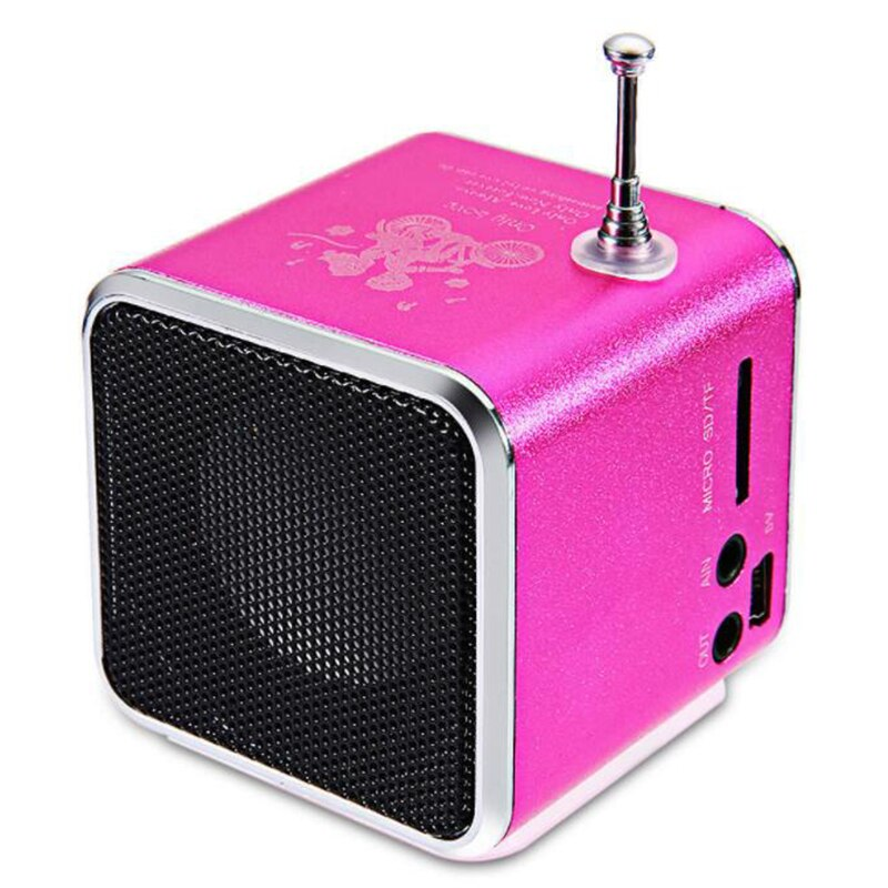 Radio FM Mini usb receptor digital MP3 portátil música altavoz bolsillo Radio compatible con Micro SD/USB flash drive/TF tarjeta