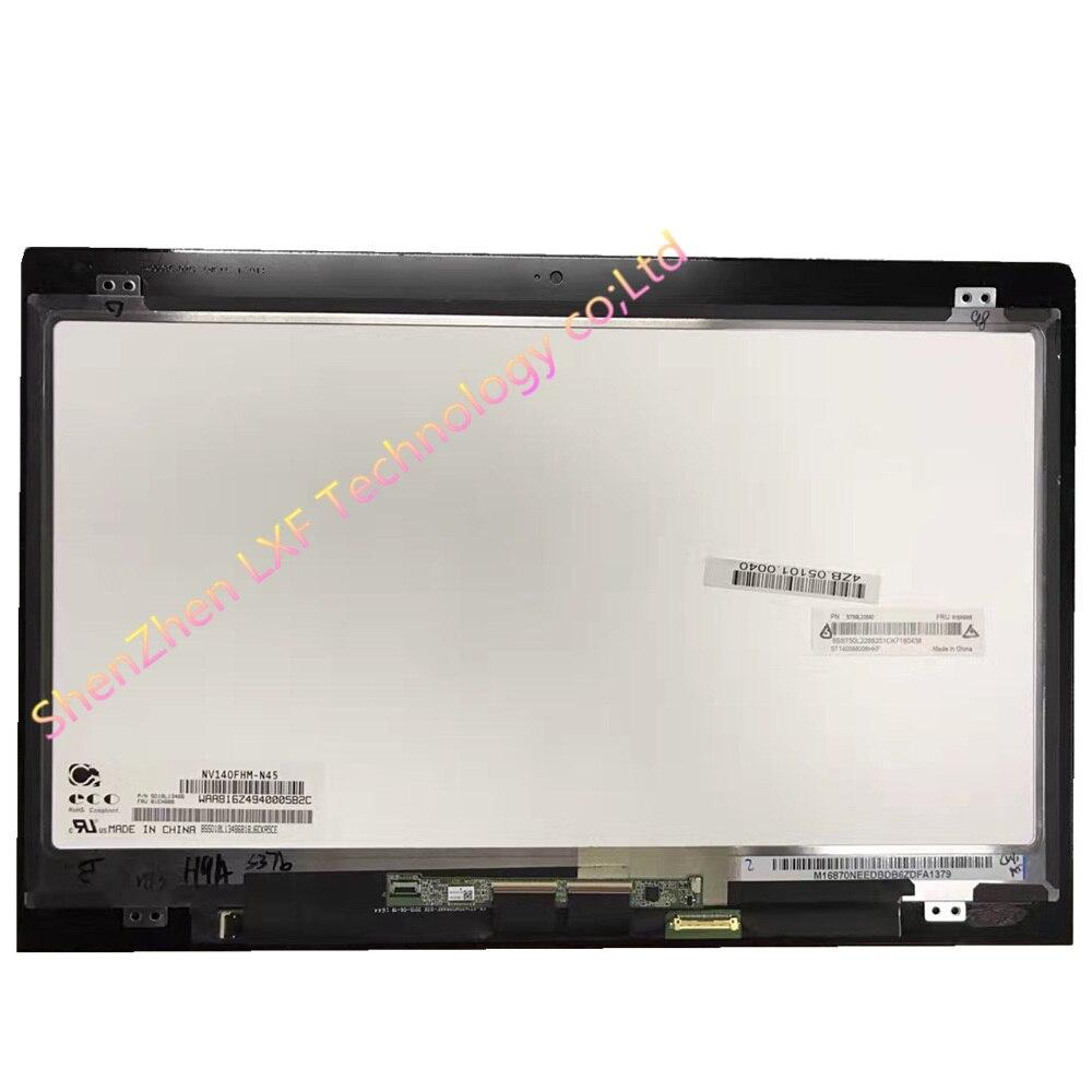 Para Lenovo ThinkPad Yoga 460 Lcd pantalla táctil digitalizador montaje 01AW135 NV140FHM N45 LTN140HL05 LP140WF6 SPB1