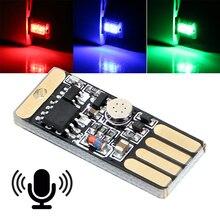 Araba LED atmosfer ışığı dokunmatik ve ses kontrolü RGB müzik ritim ışık USB soket oto dekoratif lambası araba Styling
