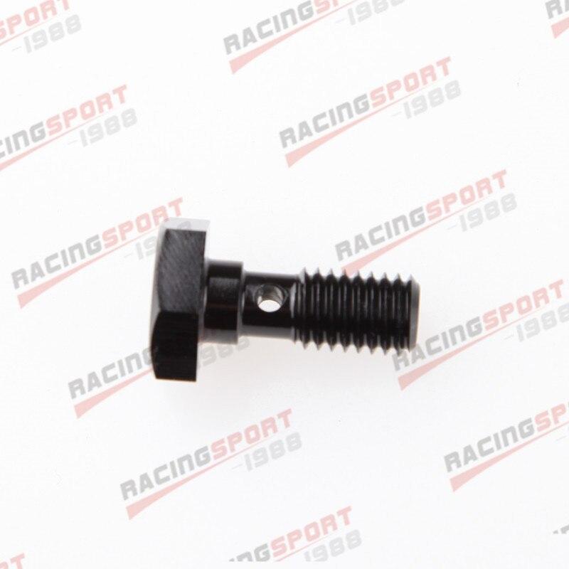 Болт Banjo M8 x 1,25 алюминиевый сплав Болты для тормозов черный адаптер