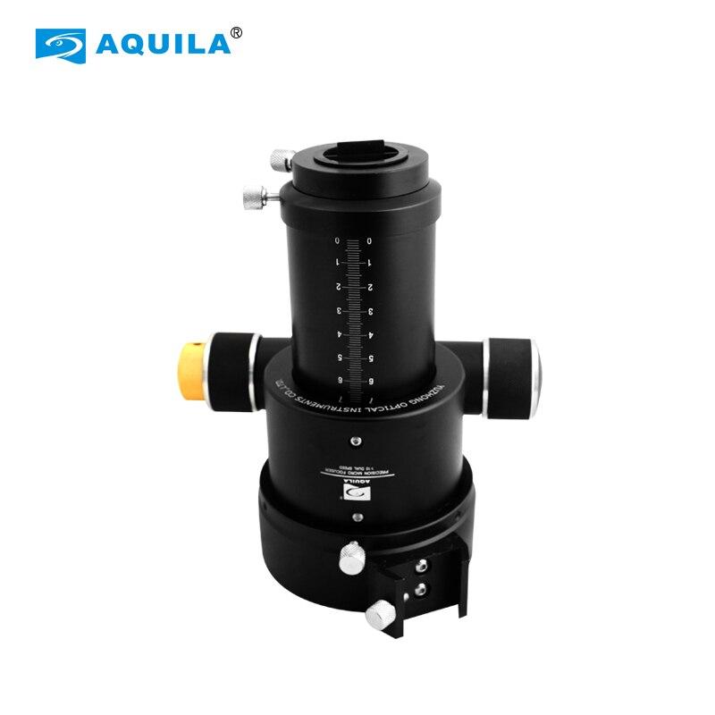 "Aquila 2 polegada dupla velocidade focuser m94.5x1 360 graus girar foco assento 0-70mm 110 para refractors telescópio + 1.25 ""adaptador"