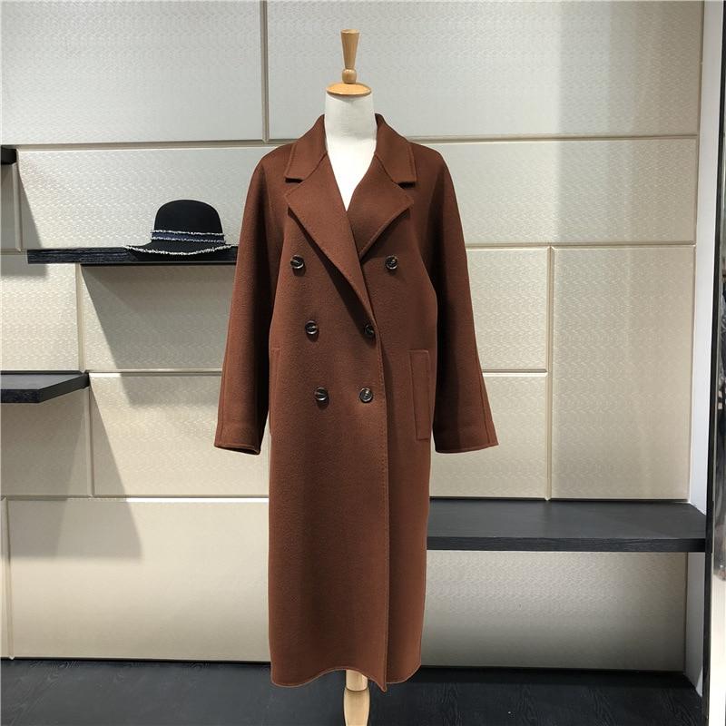 2018 winter women wool coat female coat medium length woolen coat brand new arrival S-XL sizes