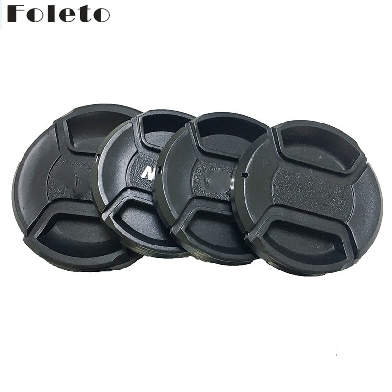 Foleto Крышка для объектива защелкивающаяся Защитная крышка для объектива 49 52 55 58 62 67 72 77 82 мм для Canon Nikon Sony a Pentax 60D 500D