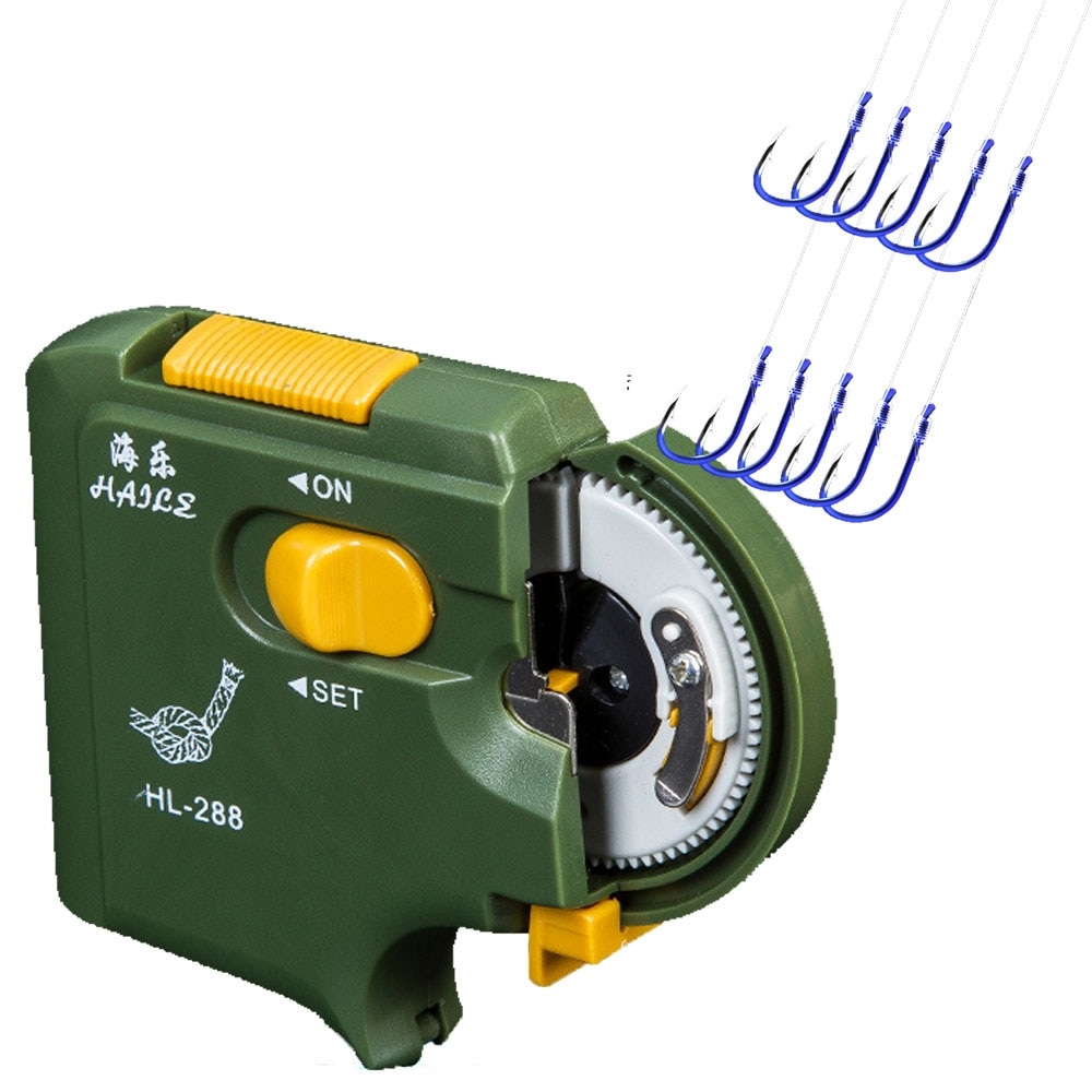 Smart Kingfisher Portable Electronic Automatic Fishing Hook Tier Binding Machine Tie Fast Fishing Line Tie Tool Tying