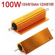 100W Watt 1ohm 1R  2ohm 2R /4 ohm 4R / 8ohm 8R  10ohm 10R Power Metal resistor F / tube amp test dummy Load Amplifier