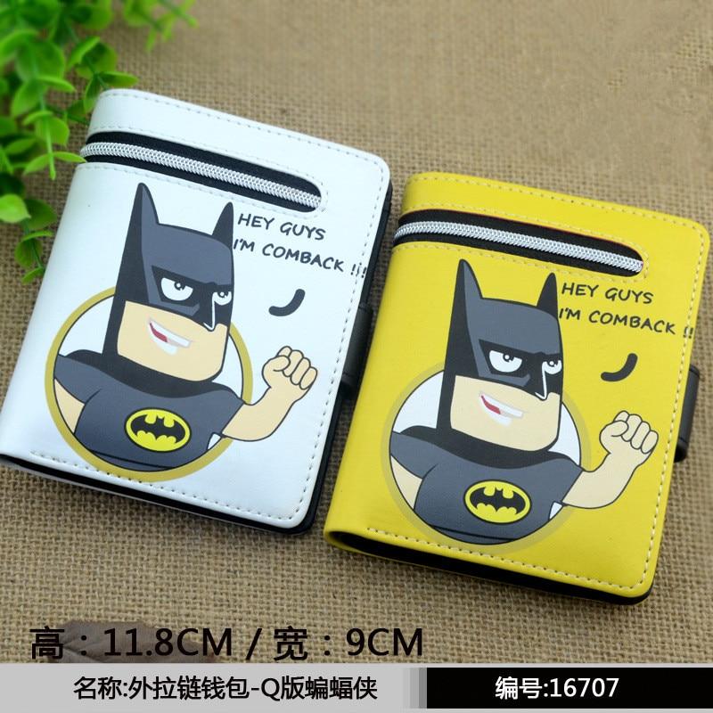 Q-estilo Batman Superman Ironman de dibujos animados cartera Marvel lindo Pu espada arte Online/Natsume. Alibaba.com/Luffy bolso