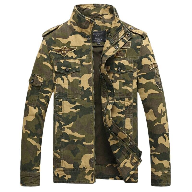 Chaqueta de camuflaje para hombre, abrigo táctico para hombre, cazadora de talla grande, 4XL, ropa militar de camuflaje a la moda