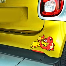 Volkrays Cartoon Funny Pikachu Car Stickers Vinyl Decal Decoration for Motorcycle Trolley Case Laptop Fridge Hyundai Renault