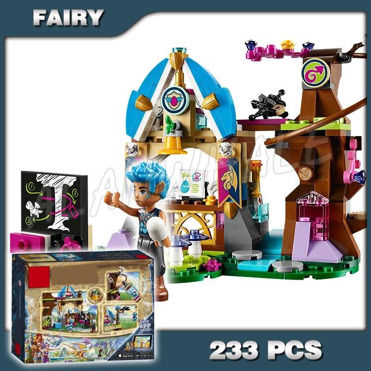 233 pçs elfos elvendale escola de dragões bebê vento casa 10501 blocos de tijolos construção kit brinquedos compatíveis com lago elfos