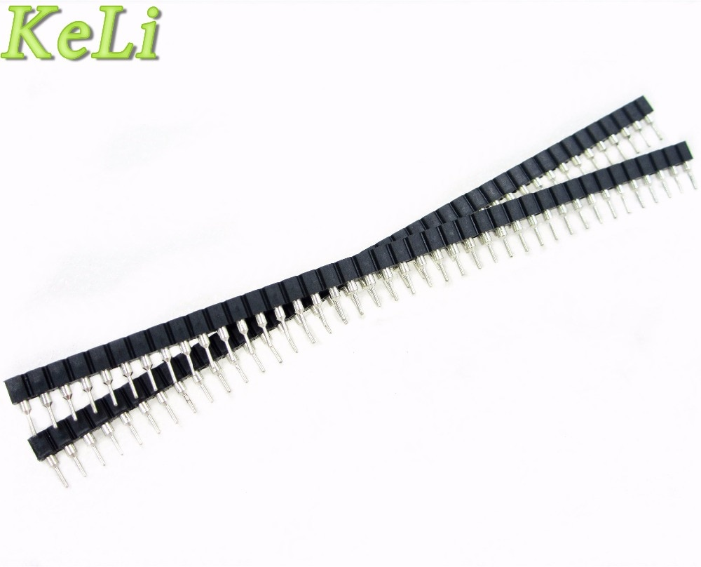 HAILANGNIAO 10 pcs 1x40 Pin 2.54 Rodada Feminino & Masculino Pin Header conector