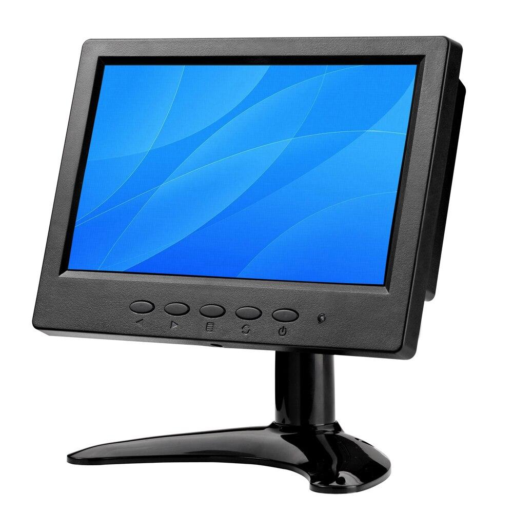 7 BNC Monitor pulgadas pequeño Monitor LCD/HDMI Lcd Monitor portátil LCD Monitor con AV/BNC/VGA/HDMI/USB dos altavoces