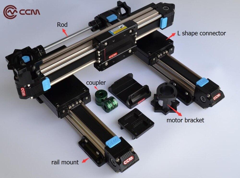 Nema23 stepper unidade motorizada guia linear tipo pórtico