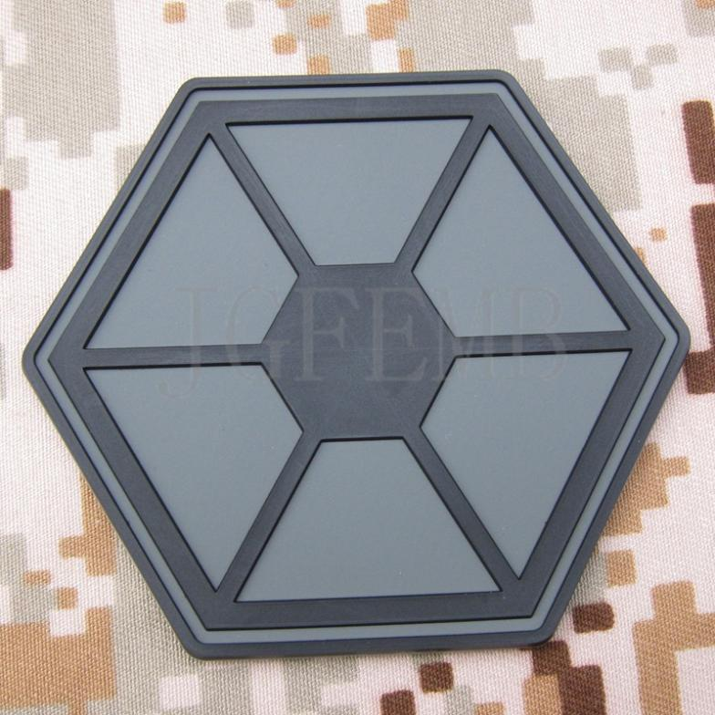 Fondo gris separatistas táctica militar moral Airsoft 3D parche de PVC insignias PB1775