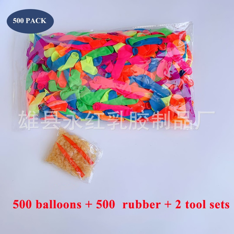 500Pcs Water Balloons Supplementary Package Toys Magic Summer Beach Party Outdoor Filling Water Balloon Bombs Toy for Kid