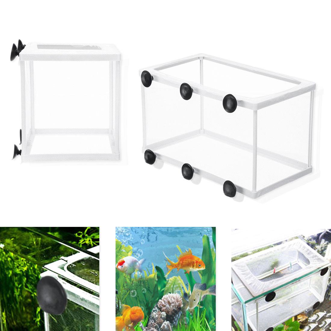 Aquarium Transparent Double Bowl Fighting Fish Mini House Incubator Box For Fry Isolation Hatchery Reptile Cage Turtle House