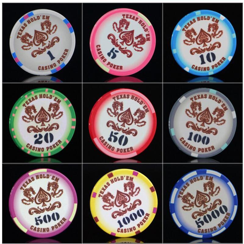 EPT Pokerstars European Poker Chips 25 Pçs/set Doze Cor Cerâmica Casino Poker Chip set