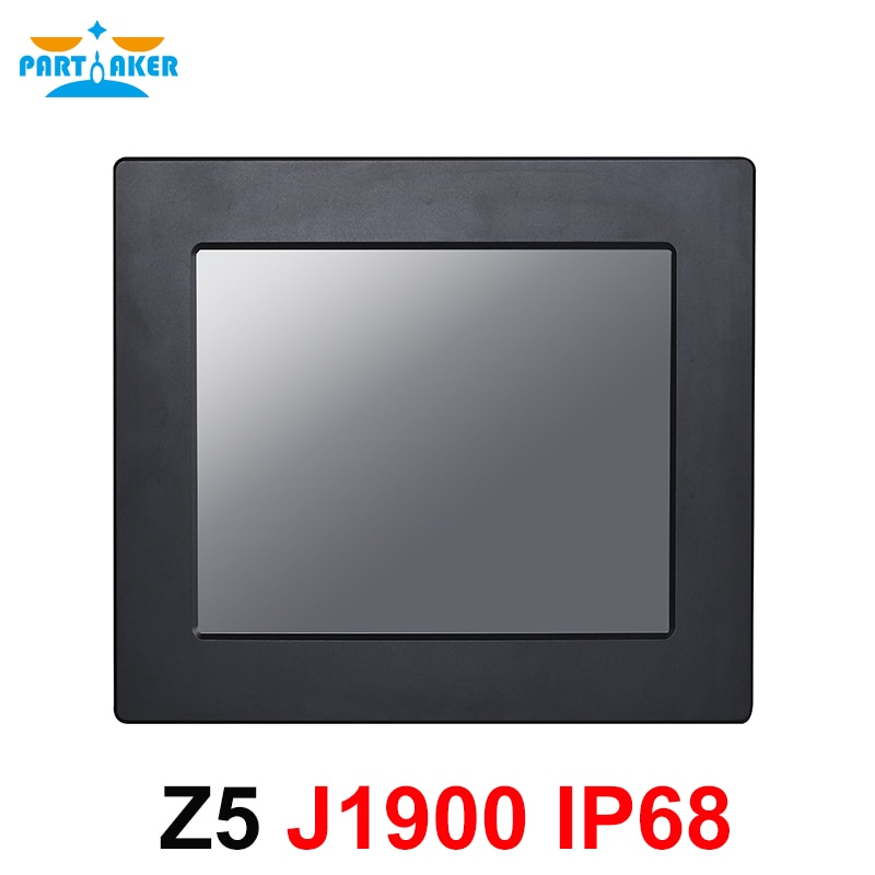 IP68 Full Waterproof 10.4 Inch Industrial Panel PC All in One Resistive Intel J1900 Touch Screen Computer Partaker Z5