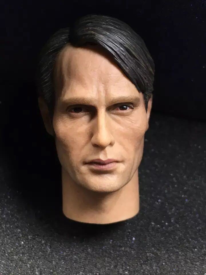 "De escala 1/6 Hannibal Mads Mikkelsen Galen Erso cabeza Sculpt Fit 12 ""cuerpo figuras de acción 11 1/6 TV"