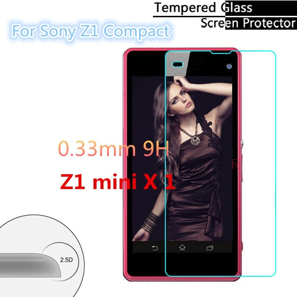 0,3mm 2.5D para Sony Xperia Z1 Mini compacto M51W vidrio templado Anti-rotura...