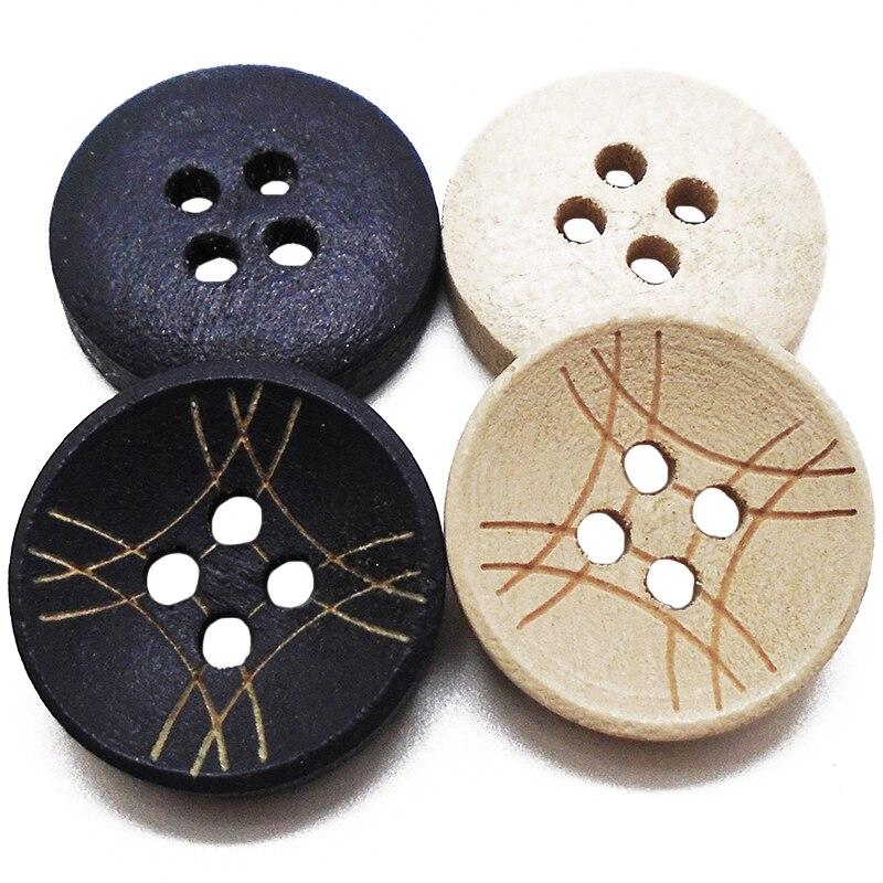 30 шт 50 шт 100 шт 15 мм темно-бежевые круглые лазерные линии деревянные пуговицы для шитья Скрапбукинг для женщин рубашка ручной работы деревянная кнопка