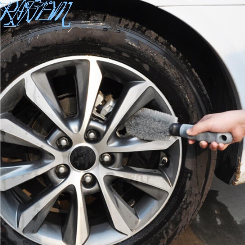 car tire washing brush for Mercedes Benz W205 W203 A/B/C/E/S/GLC/GLK/GLE W213 W211 W204 AUTO Accessories