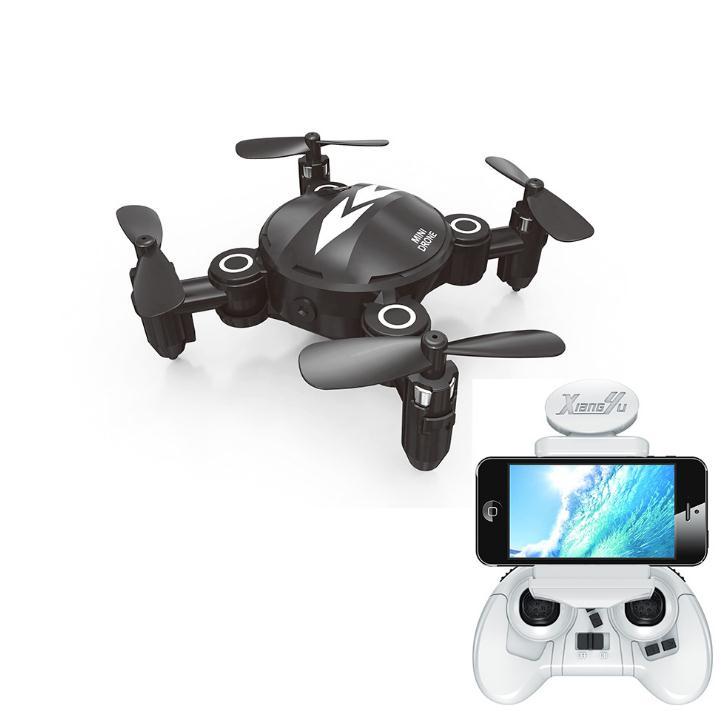 Mini RC Quadcopter Dron de bolsillo plegable con cámara HD modo sin cabeza de altitud Hold RC helicóptero VS S9HW Dron de carreras con visión en primera persona