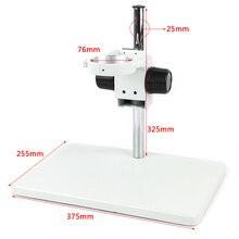 Büyük boy ağır ayarlanabilir Boom büyük Stereo kol masa standı 76mm halka tutucu laboratuvar endüstriyel Stereo mikroskop kamera