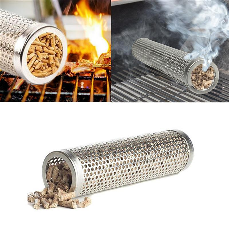 Высокое качество 6 в гранулятор трубка из нержавеющей стали гриль курильщик гриль перфорированная сетка курильщик фильтр гаджет горячее и холодное курение
