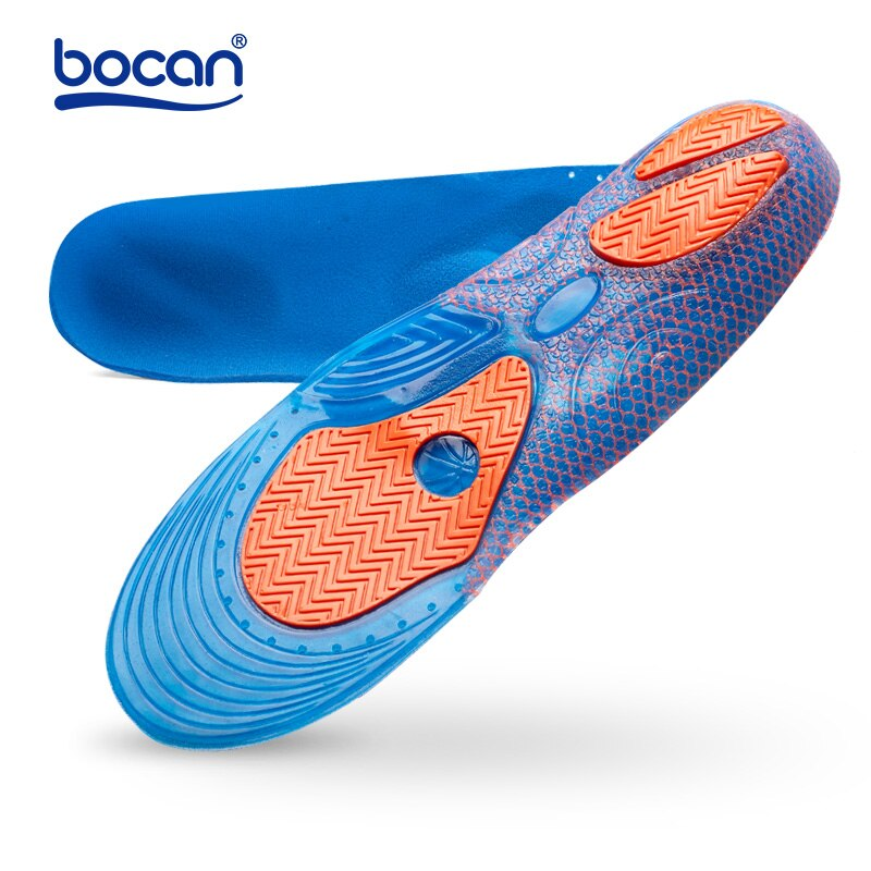 bocan insoles shoes pad sweat absorbing shock absorption breathable comfortable for men and women shoes insoles Bocan Gel Insoles Shock Absorption Soft Comfortable Sport Insoles for Men and Women Foot Pain & Plantar Fasciitis relief, Blue
