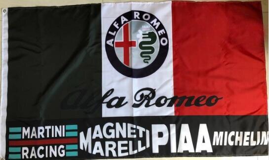 ALFA ROMEO bandera 3x 5ft poliéster envío gratis ALFA ROMEO banner 012