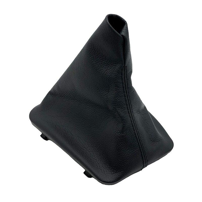 Black Leather Manual Gear Shift Knob Frame Lever Gaiter Boot Cover Case For BMW E36 3 Series E30 E34 E39 E81 E82 E87 E88