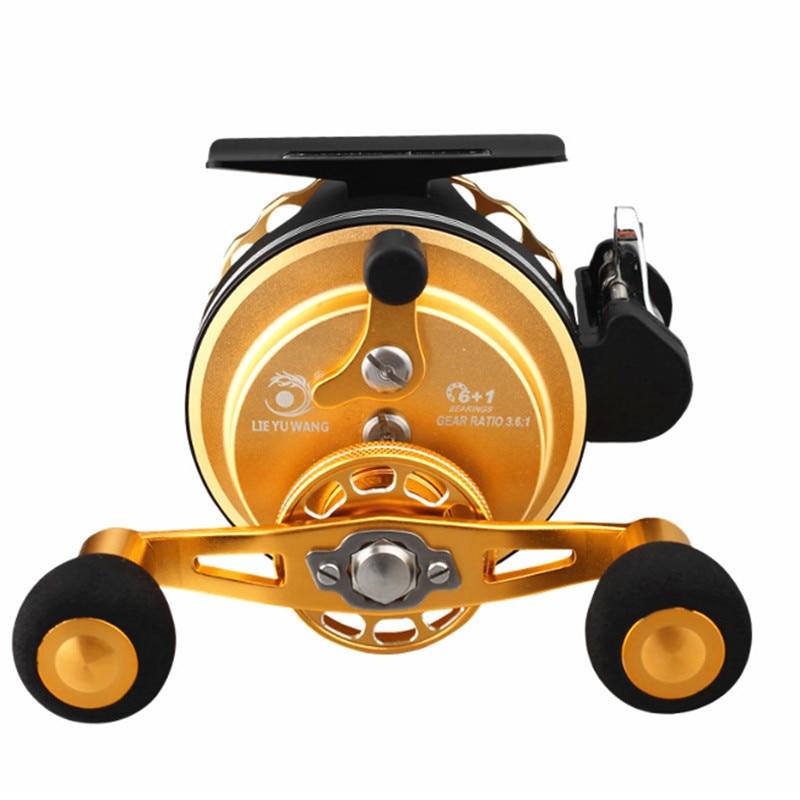 Professional Outdoor Raft Wheel Fly Fishing Wheel Seawater Freshwater Boat Spinning  Knob Reel Metal Fishing Reel For Fish enlarge
