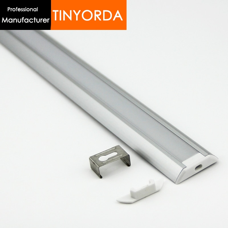 Tinyorda 500Pcs (2M Length)LED Aluminum Profile  Led Channel Profil for 13mm LED Strip Light [Professional Manufacturer] TAP3006