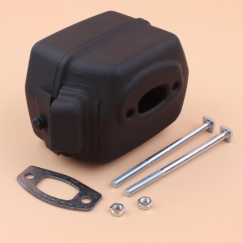 Kit de juntas de tornillos para escape de silenciador adecuado para Husqvarna 50,51, 55,55 motosierra Rancher piezas de repuesto