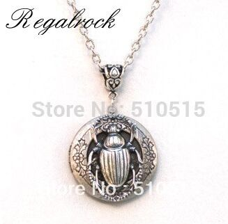 Regalrock Locket Beetle Scarab Necklace Steampunk Insect Jewelry Pendant Hot Charm Punk